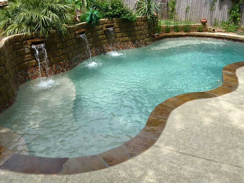 Waterline Tile and Pool Coping Options